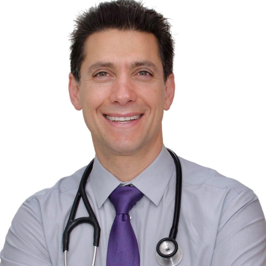 Dr. Tom Rifai headshot with stethoscope