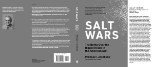 Salt Wars: The Battle Over the Biggest Killer in the American Diet by Michael F. Jacobson book sleeve