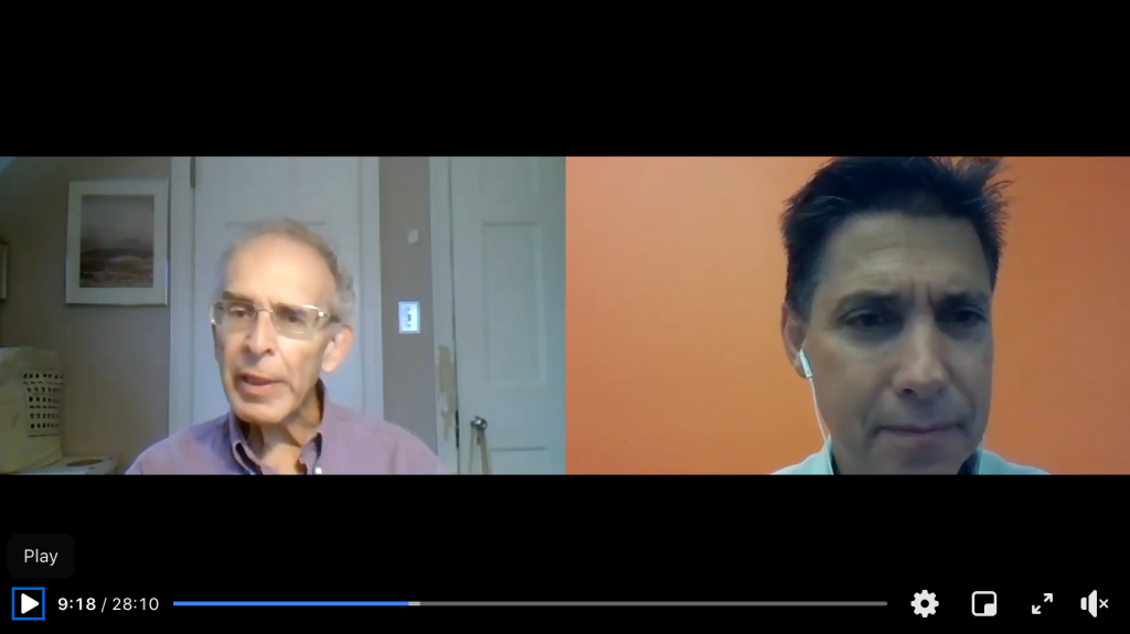 "Video of Dr. Tom Rifai on right interviewing Dr. Michael Jacobson on left about Dr. Jacobson's new book, ""Salt Wars."""