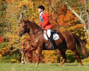 Dr. Katz riding his horse, Troubador