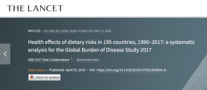 Now You Know. Screenshot from The Lancet article on Dietary Risks