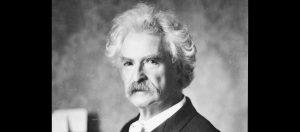 Black and white headshot of Mark Twain