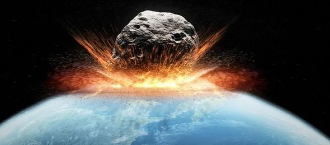 Am I Going to Get the Coronavirus and Die: image of an asteroid hitting the earth in a blast of fire