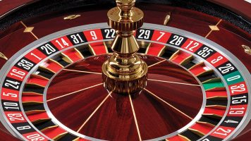 Closeup of a roulette table