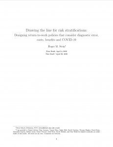 Drawing the line for risk stratifications - title image - Title page of white paper