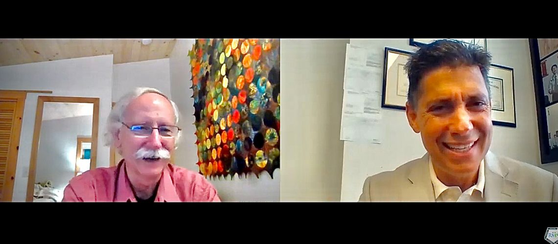 Dr. Walter WIllett on left speaks with Dr. Tom Rifai on right in this Zoom interview.